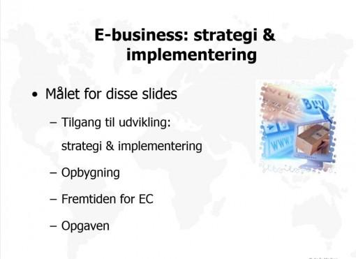 E-business: strategi & implementering