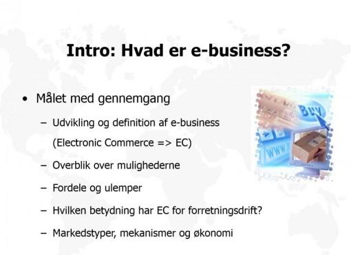 Hvad er e-business?