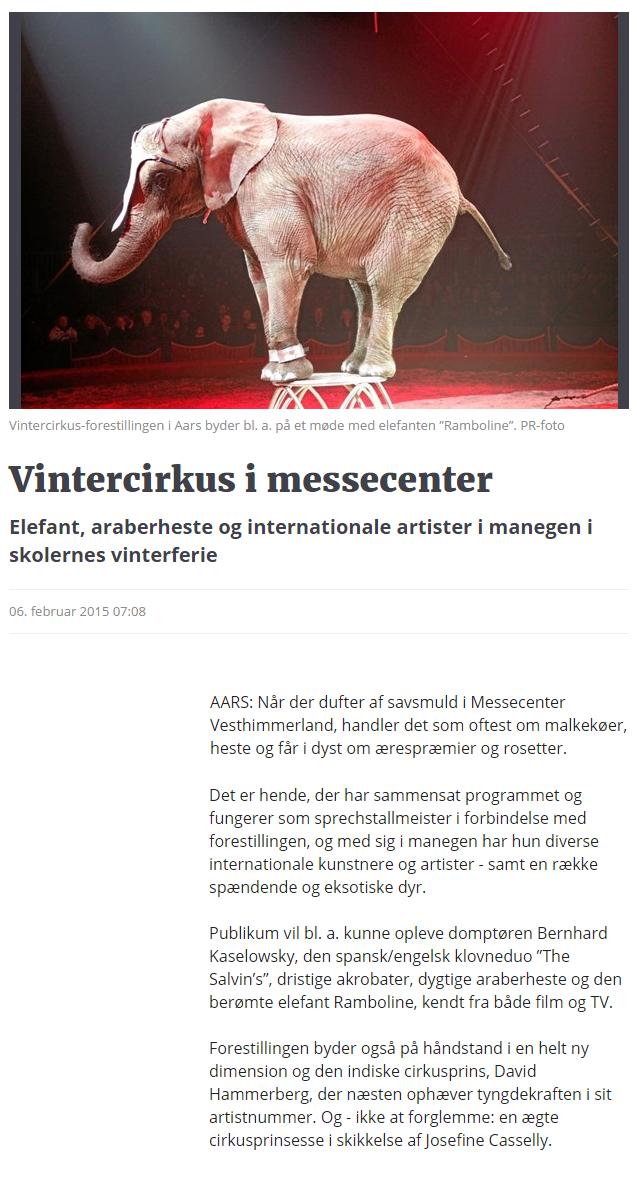 Vintercirkus i messecenter   Nordjyske.dk