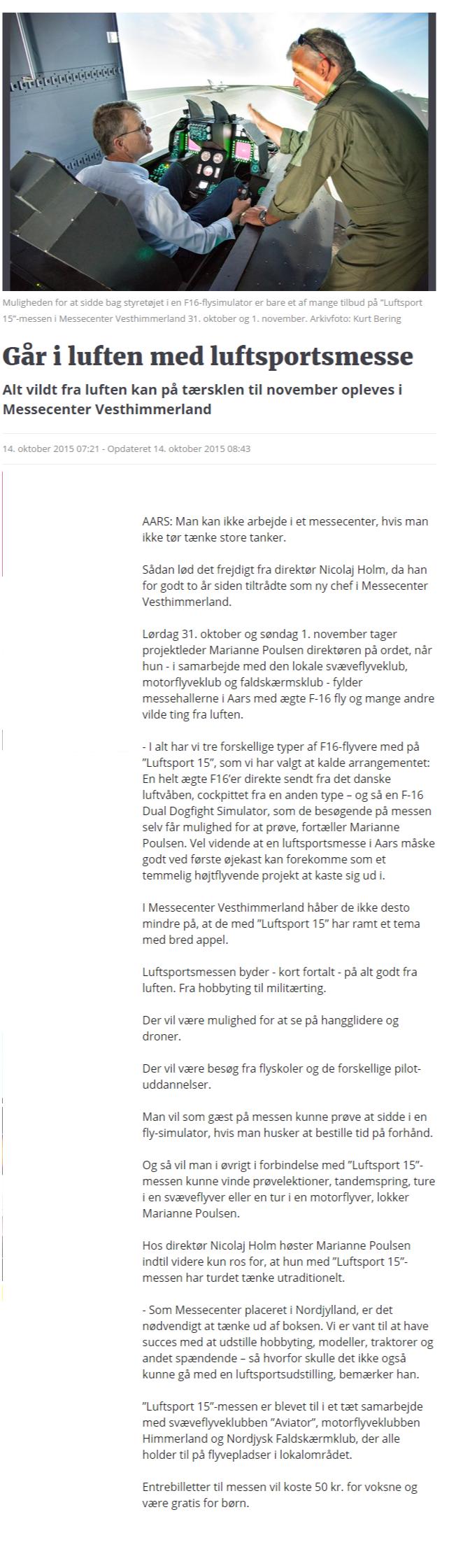 Går i luften med luftsportsmesse   Nordjyske.dk
