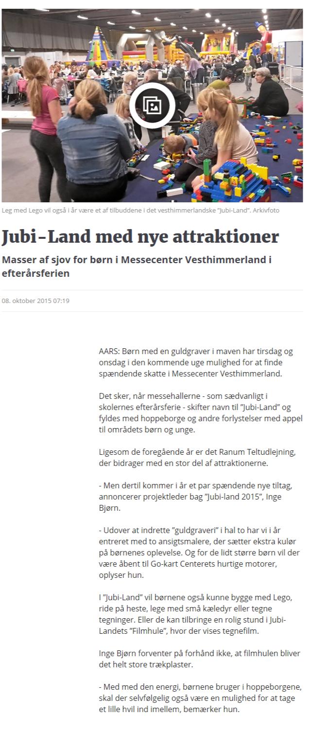 Jubi-Land med nye attraktioner   Nordjyske.dk