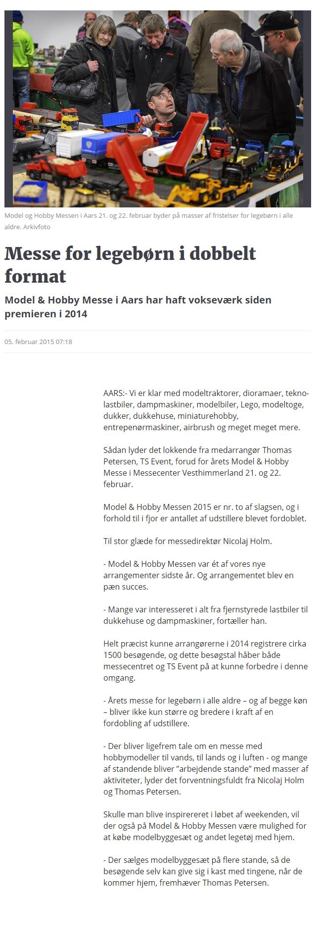 Messe for legebørn i dobbelt format   Nordjyske.dk