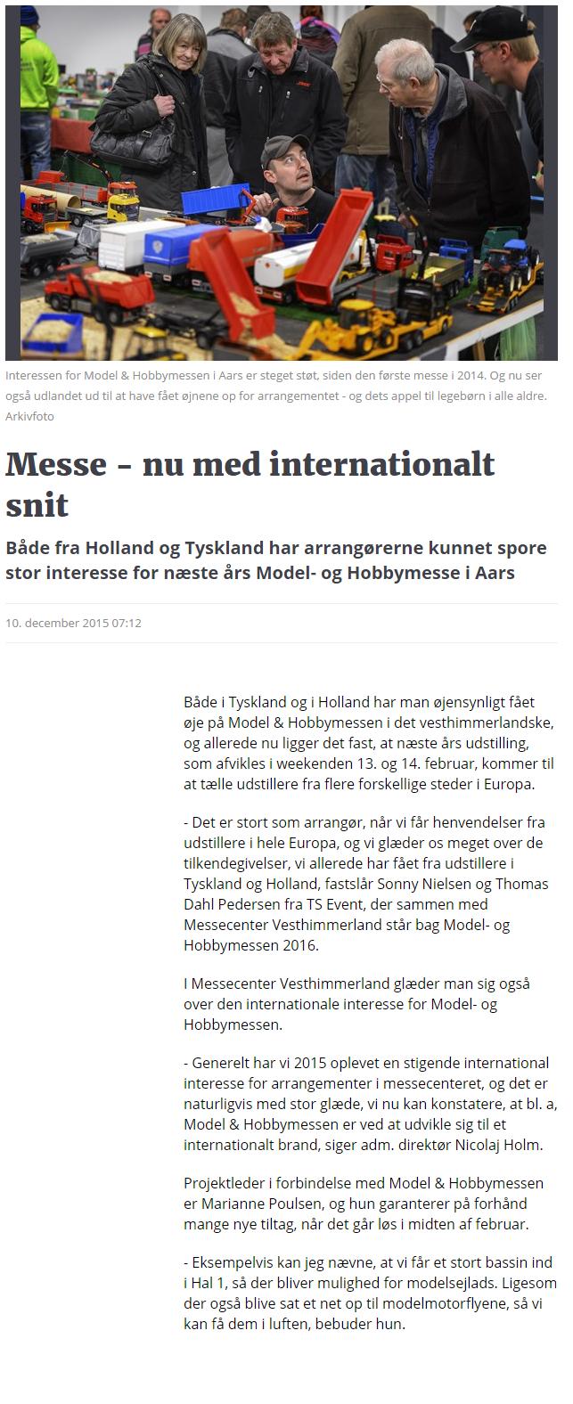 Messe - nu med internationalt snit   Nordjyske.dk