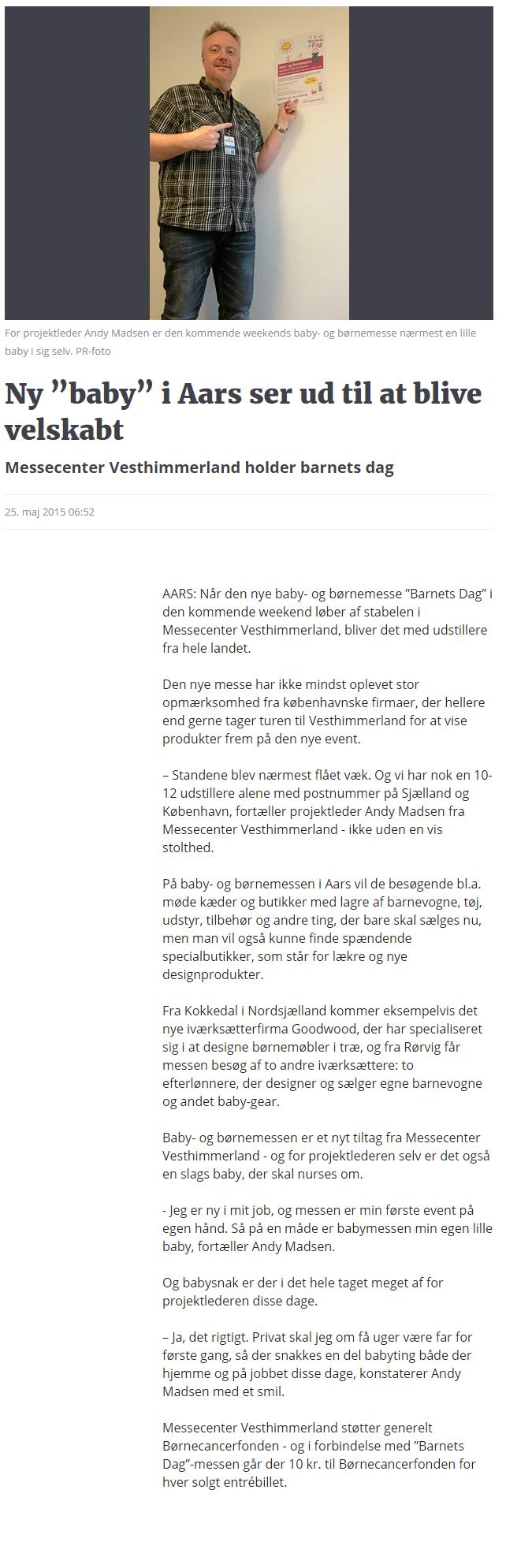 """Ny """"baby"""" i Aars ser ud til at blive velskabt   Nordjyske.dk"""