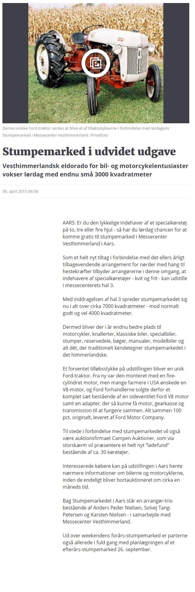 Stumpemarked i udvidet udgave   Nordjyske.dk