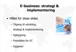 E-business: strategi & implementering